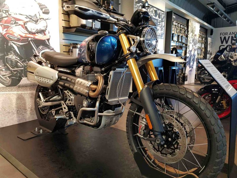 Used Bikes And Scooters Triumph Triumph Scrambler 1200 Xe Blue