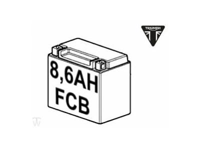 BATTERY, 12V, 8,6AH, FCB YTZ10S
