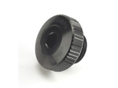 Machined Oil Filler Cap - Blac BLACK