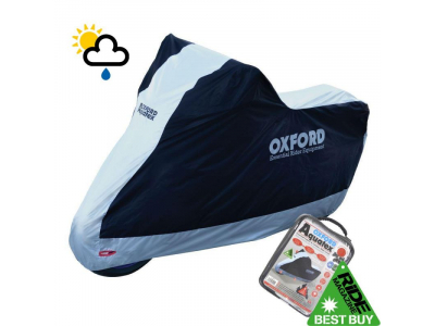 Oxford Aquatex  CV206 EXTRA LARGE Motorcycle Cover Black and Silver