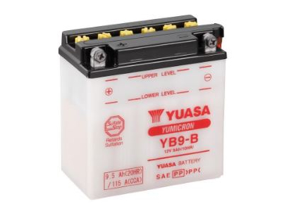 YB9-B YUASA BATTERY & ACID PACK