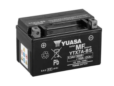 YTX7A-BS YUASA BATTERY & ACID PACK